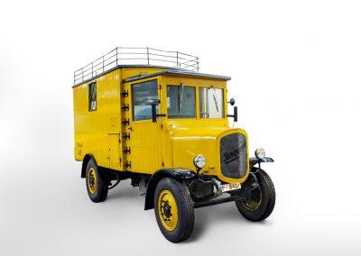 Elektrischer Paketzustellwagen Bergmann BEL 2500, 1920 (c) Museum fuer Kommunikation Frankfurt Bert Bostelmann